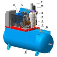 Винтовой компрессор с ременным приводом BK15E-8(10/15)-500Д